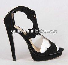 Été chaussures à talons hauts sexy lady magasins chaussures en cuir 2012 AJ154