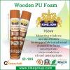 Polyurethane foam spray for wood ( SGS & Bv audited factory )