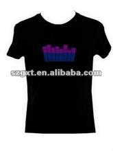 EL flashing equalizer t-shirt