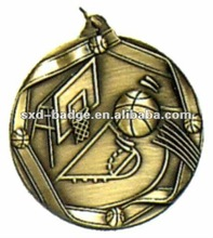 Custom Brass Basketball Medals Made In China