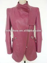 baby leather jacket/long jacket for lady