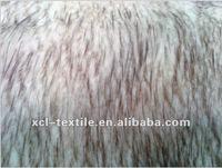 XCl 2012 New fashion desine soft beautiful two tone Plush faux /fade /imitation mouse fur fabric