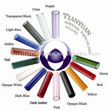 COE 3.3 tubes colored borosilicate glass