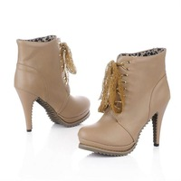 cheap fashionable shoes 2012 designer high heel boot XW234