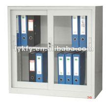 KFY-CB-19 White Sliding Glass Door Cheap Floor File Cabinets