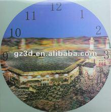China supplier free sample lenticular sheet 3d wall clock