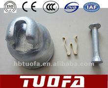 Insulator cap /pin ball/spring clip for insulator fittings