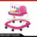 Rosa bebê andador 588a, plástico moderno triciclo garoto