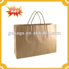 2015 wholesale brown kraft carry bags/ paper bag