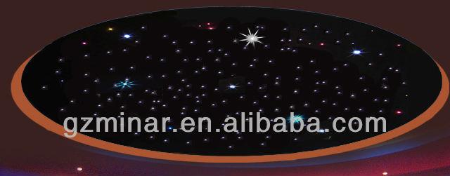 Plafond d coration fiber optique starry sky lumi res de for Plafond en fibre optique