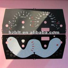Plastic speedometer faceplates
