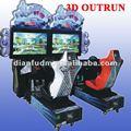 3D simulador de condução de carro máquina de jogo - Outrun 2012 ( duplo )