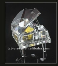 Crystal art & craft Piano decoration Beautiful piano adornment K9 Crystal piano model