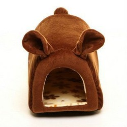 fleece piggy house Language Option French/dog bed