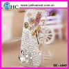 Crystal beads mobile case for iphone4,cell phone metal cases for iphone 5,diamond crystal case for blackberry