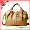 galaxy kiss top real leather champagne gold color women handbag women's shoulder bag