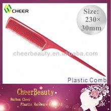 Premium de ossos da cauda pente pc014/plástico barbeiro pente de cabelo/pentes atacadistas