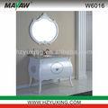 Branco antigo móveis de carvalho banheiro/vaidade/w6016 gabinete