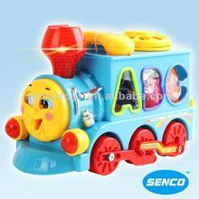 Happy B/O thomas train with block toys baby toys education toys