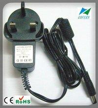 Wall mount England plug adapter 12V power supply AC/DC 12W