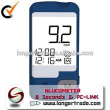 No Coding 6 Seconds Test Digital Blood Sugar Testing Equipment medical diagnostic test kits