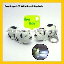 Dog Shape LED Light Keyring With Sound/Voice
