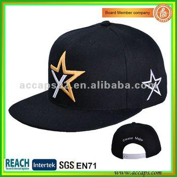 BSIC Audit High quality embroidery OEM custom flat bill snapback hats SN-0062