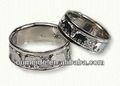 2013 novo produto elefante gravada anéis de crianças