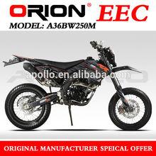 China Apollo Orion EEC 250cc On Road Motorcycle Super motard Enduro Bike