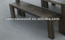 Solid oak long bench, gray color for the 2012 Christmas Promotion
