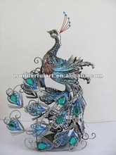 decorative metal iron animals peacock craft handicraft