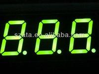 Green color 3 digit 7 segment LED display (ATA5321AG)