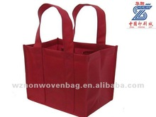 2014 new brand logo promotional non woven eco-friendly wine bag(HL-6073)