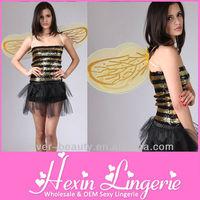 2012 Fashion Wholesale Hot Sexy Bee Costume fancy dress
