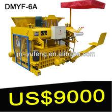DMYF-6A concrete block machinery, mobile block machine, brick making machine