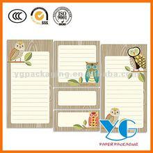 Owl List Pads & Sticky Notes Set