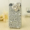 Luxury All Pearl Camellia Decorated Handphone Case crystal cell phone covers