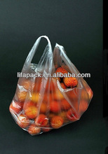 Plastic reusable shopping bags with logo