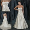 JB-031 A-line Embroidery Silver Satin Preloved Wedding Gowns 2012