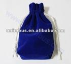 block bottom velvet bags,velour cosmetic gift pouch
