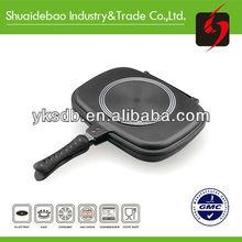 Aluminium Non-stick happy call double side pan