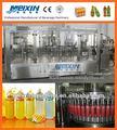 250ml pet garrafa de suco de laranja de lavagem de enchimento e da selagem