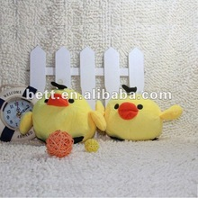 promotion chicken shape plush and stuffed pocket toy