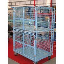 JS Four vertical doors trolley, Supermarket storage rolling cart