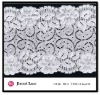 Snow White Glamorous Top-grade Floral Elastic Lycra Lace Trim Yard at A Discount 30148