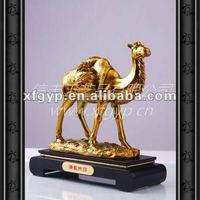 golden exquisite camel metal casting trophy cup