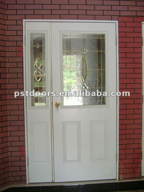 Tempered Glass Office Steel Door Metal Glass Double Entry Doors Glass Panels