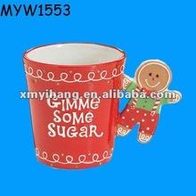 Snowman Christmas decoration ceramic Coffee Mug Wholesale