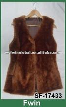 Fashion Fox Fur Vest Waistcoats