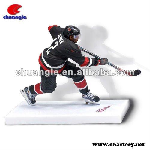 Polyresin action figure - hockey player model
